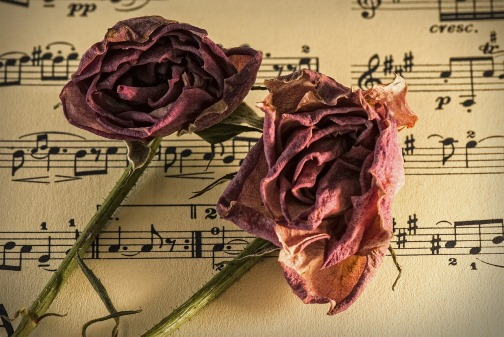 Sheet Music with Roses